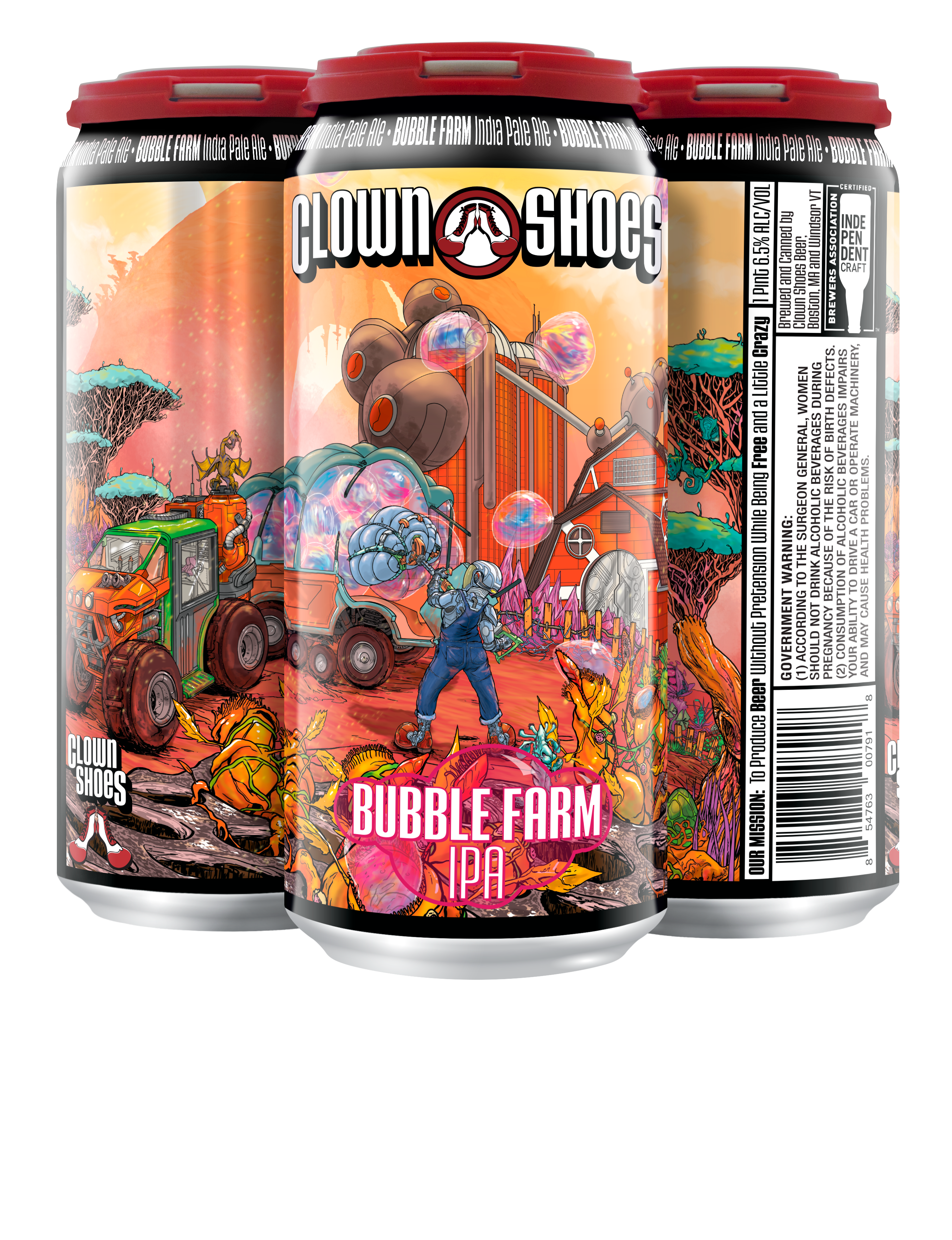 Bubble Farm 16oz 4-pack can