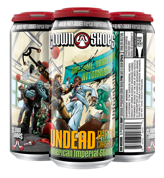 Undead party crasher 4-pack 16 oz can
